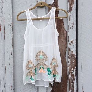 Sun & Shadow XS Sheer Embroidered eyelet Sequence